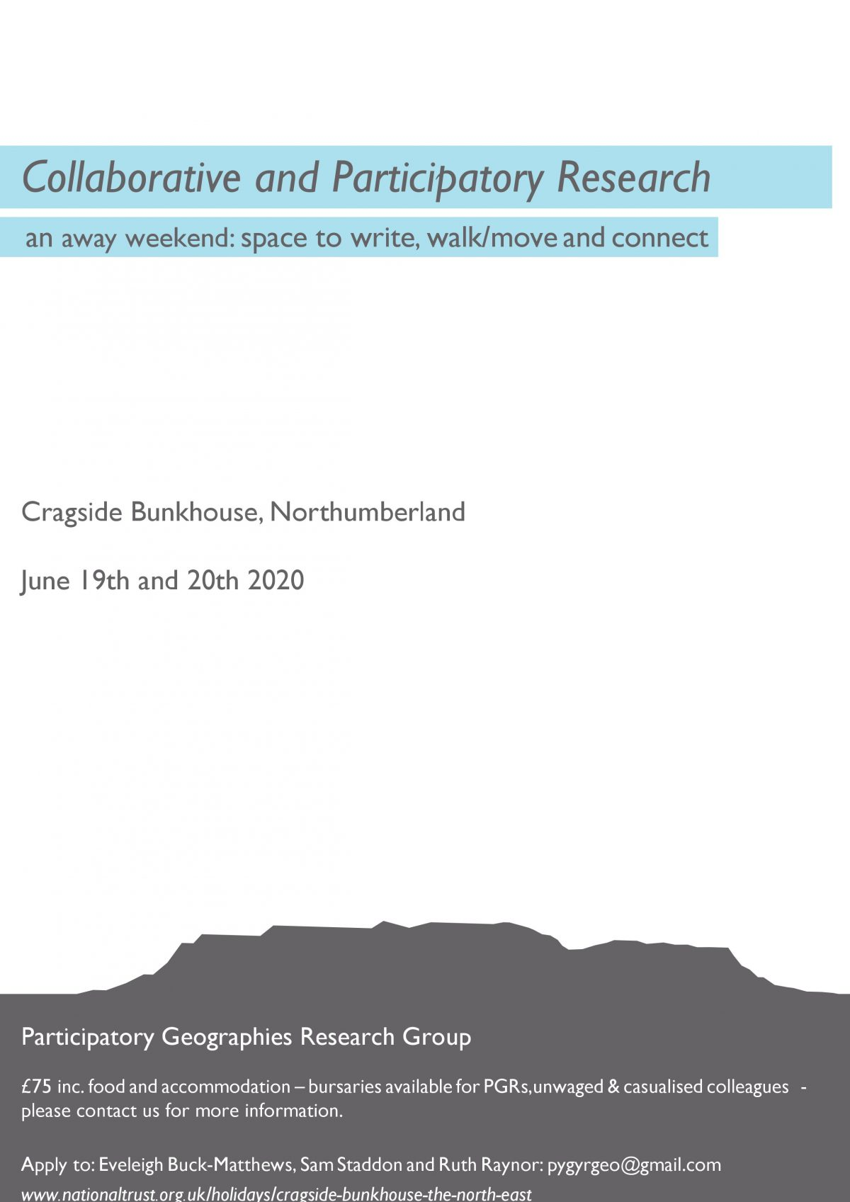 Collaborative and Participatory Research Away Weekend