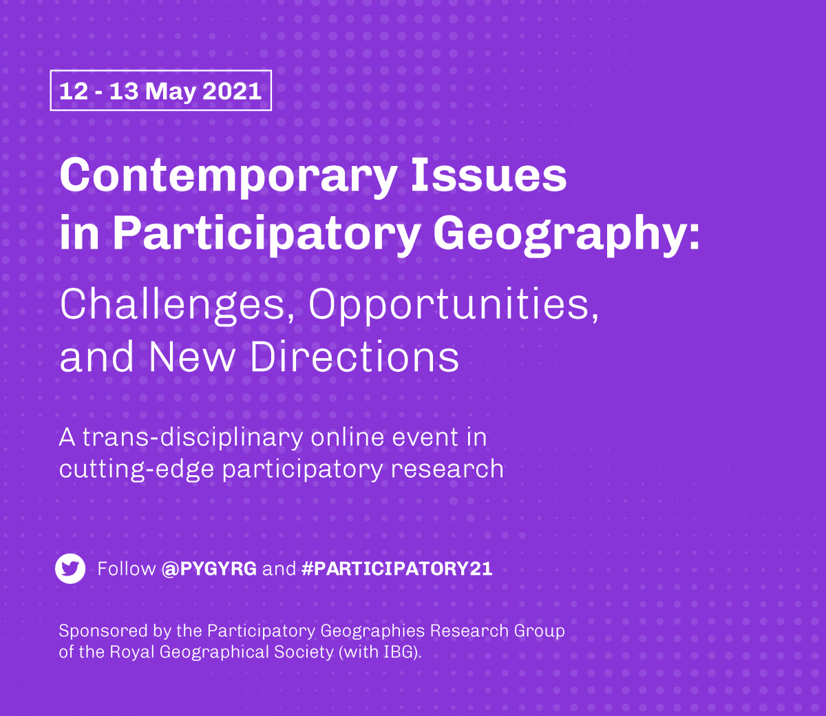 Contemporary Issues in Participatory Geography: Registration and Session Details